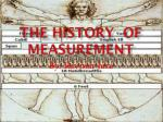 The History  of measurement