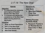 L17-19: The  New  Deal