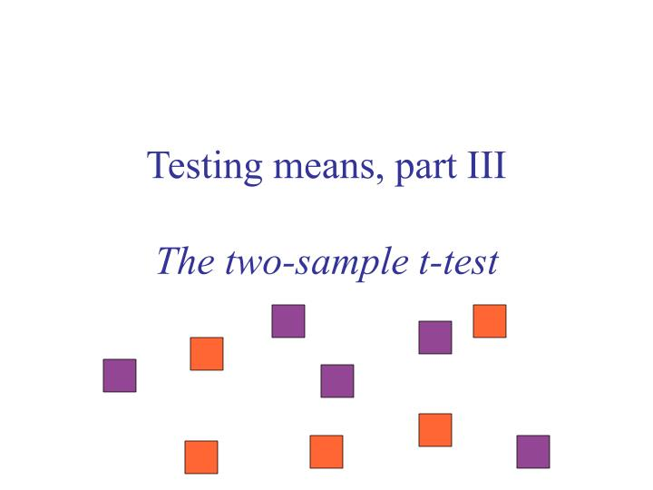 testing means part iii the two sample t test n.