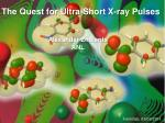 The Quest for Ultra-Short X-ray Pulses