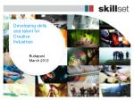 Developing skills and talent for Creative Industries