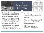 14 Intergroup Relations