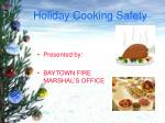 Holiday Cooking Safety
