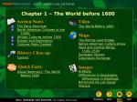 Chapter 1 – The World before 1600