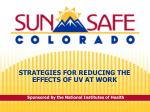 Introduction to Sun Safety Units