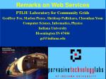 Remarks on Web Services