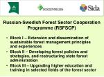 Block I – Extension and dissemination of sustainable forest management principles and experiences