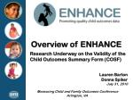 Overview of ENHANCE