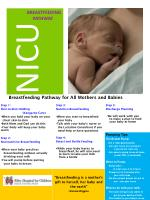 Breastfeeding Pathway for All Mothers and Babies