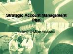 Strategic Account Management Plan