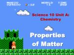 Science 10 Unit A: Chemistry