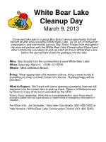 White Bear Lake Cleanup Day March 9, 2013