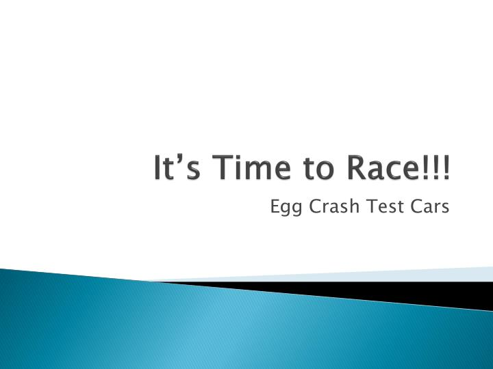 it s time to race n.