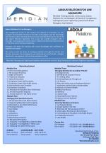 LABOUR RELATIONS FOR LINE MANAGERS