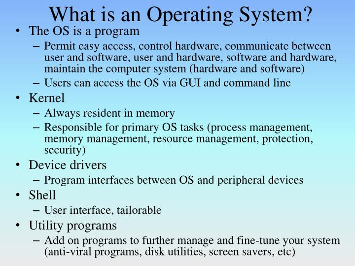 what is an operating system n.