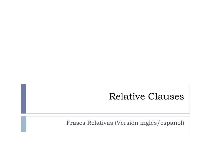relative clauses n.