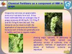 Chemical Fertilizers as a component of INM in grape