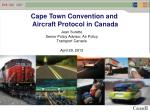 Cape Town Convention and Aircraft Protocol in Canada