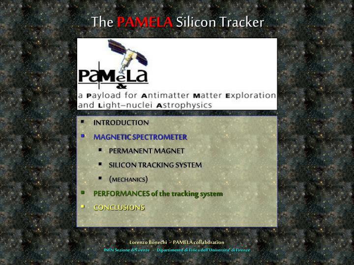 the pamela silicon tracker n.