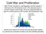 Cold War and Proliferation