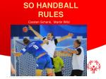 SO HANDBALL RULES