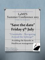 """""""Save the date"""" Friday 5 th July"""