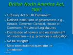 British North America Act, 1867