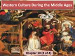 Western Culture During the Middle Ages