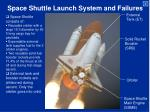 Space Shuttle Launch System and Failures