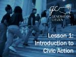 Lesson 1: Introduction to Civic Action