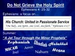 Do Not Grieve the Holy Spirit Ephesians 4: 25-32