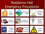 Residence Hall Emergency Procedures