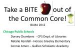Take a BITE         out of the Common Core! ISLMA 2012