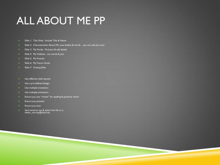 all about me pp n.