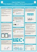 Copywrite Digital Printers Poster Template for a 1189mm x 841mm poster presentation