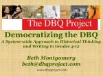 Democratizing the DBQ A System-wide Approach to Historical Thinking and Writing in Grades 4-12