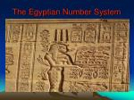 The Egyptian Number System