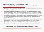 BILL OF RIGHTS ASSIGNMENT