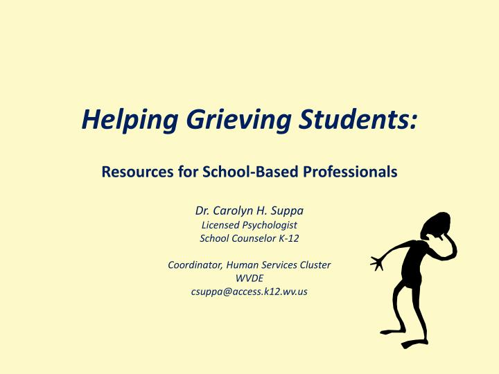 helping grieving students n.