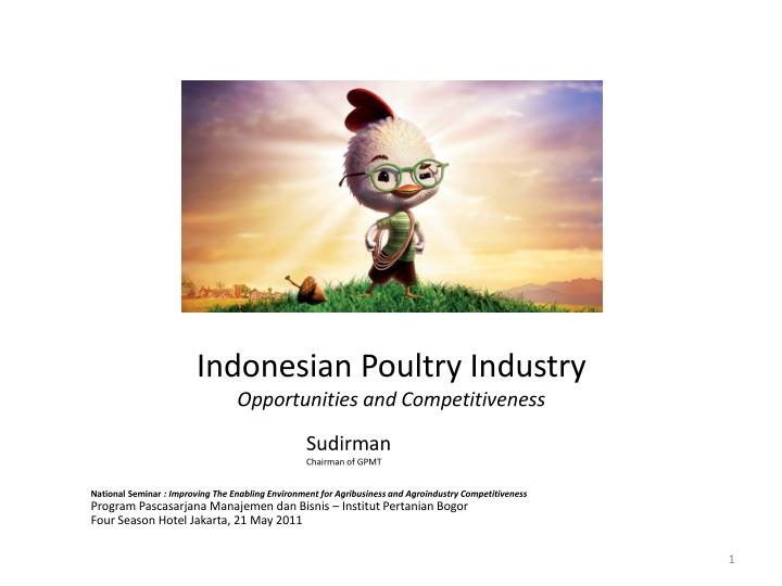 indonesian poultry industry opportunities and competitiveness n.