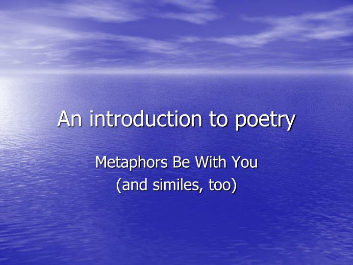 an introduction to poetry n.