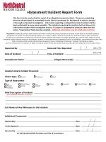 Harassment Incident Report Form