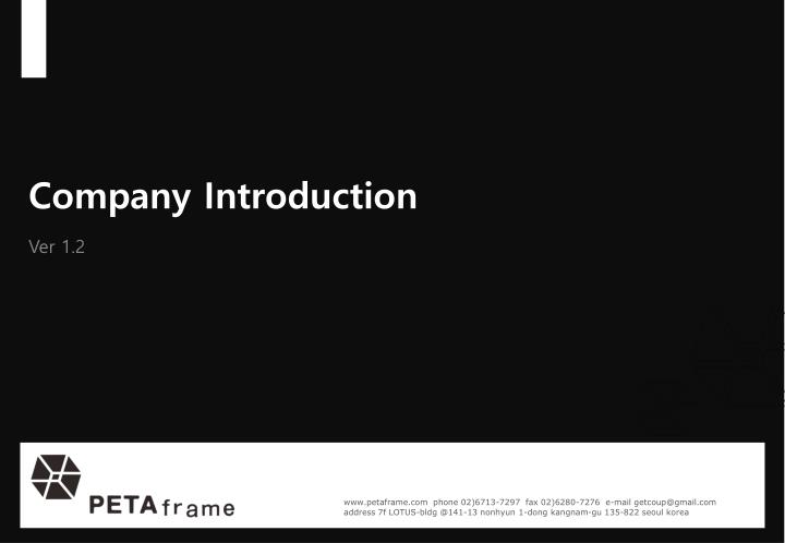company introduction n.