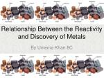 Relationship Between the Reactivity and Discovery of Metals