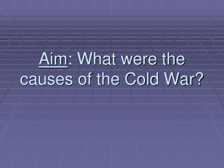 aim what were the causes of the cold war n.