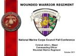 WOUNDED WARRIOR REGIMENT