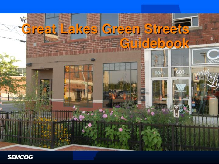 great lakes green streets guidebook n.