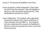 Lesson 5: The Spread of Buddhism into China