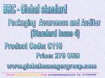 Packaging  Awareness and Auditor  (Standard Issue 4)