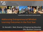 Addressing Entrepreneurial Mindset Learning Outcomes in the First Year